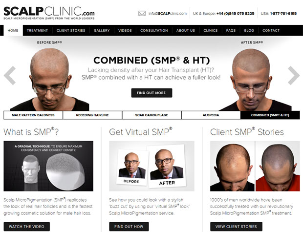 The Scalp Clinic website
